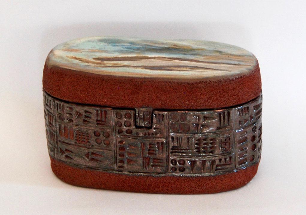 Boîte paysage écriture cunéiforme