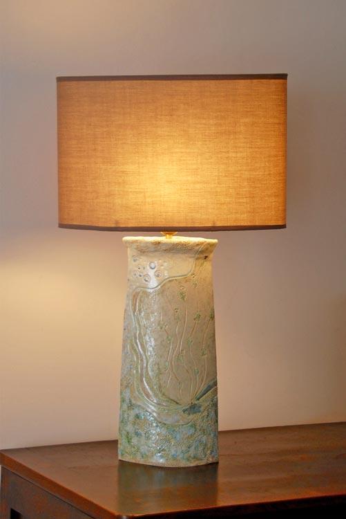 Céramiques vases paysage pied de lampe