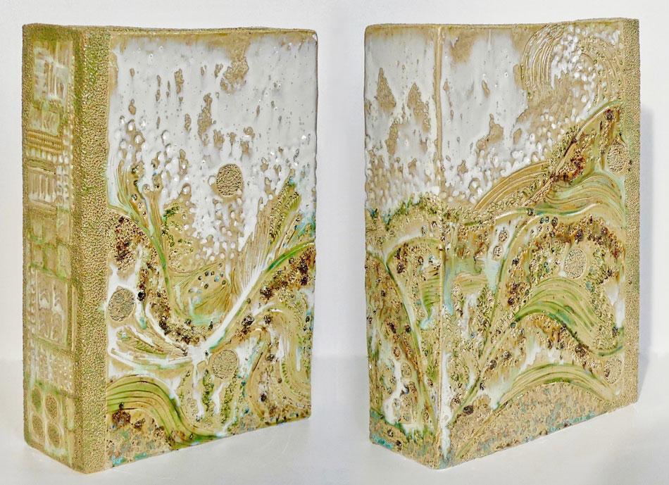 Céramique vases paysage rectangulaire