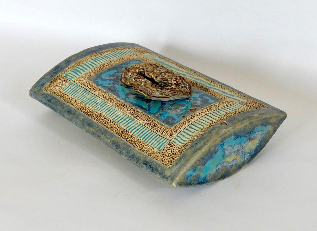 Boîte céramique lussatite opale