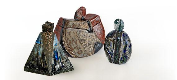 Céramiste collection boîtes sculptées