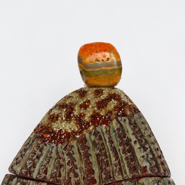 Jaspe Bumblebee boîte sculptée