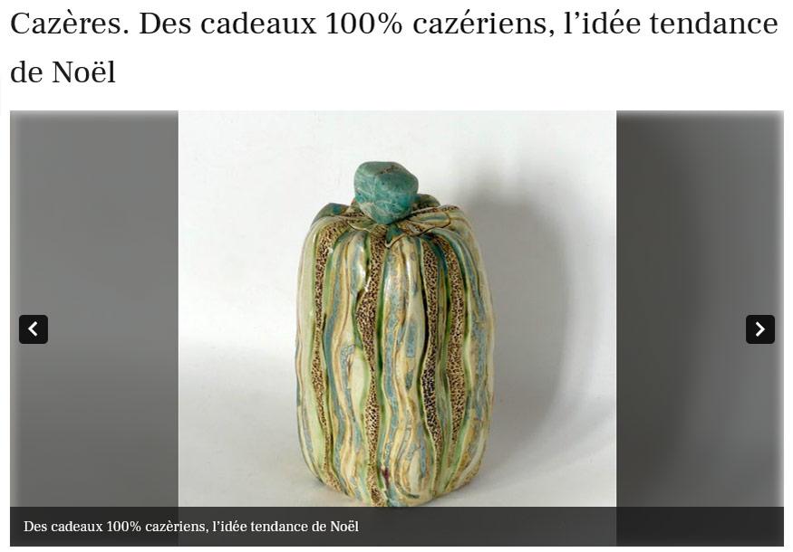 Idée cadeaux céramiques de Claude Agier Mollinari