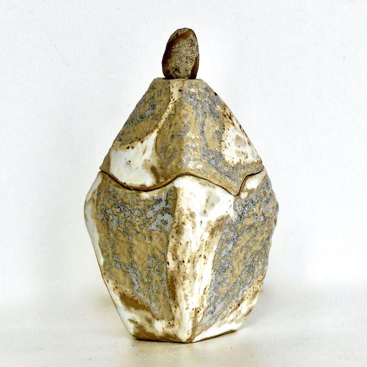 "Boîte céramique ""Galet de Garonne"""
