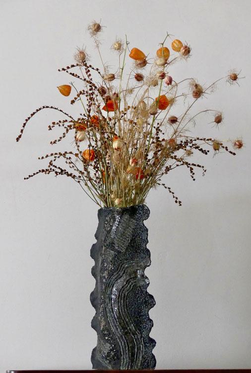 Ambiance de céramiques vase paysage météore