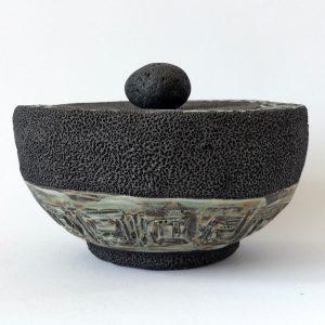 Céramique boîte sculptée coupe