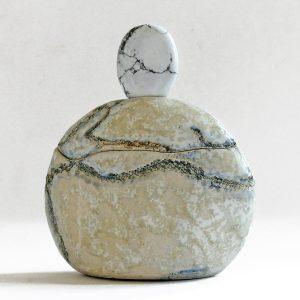Céramique petit flacon magnésite polie