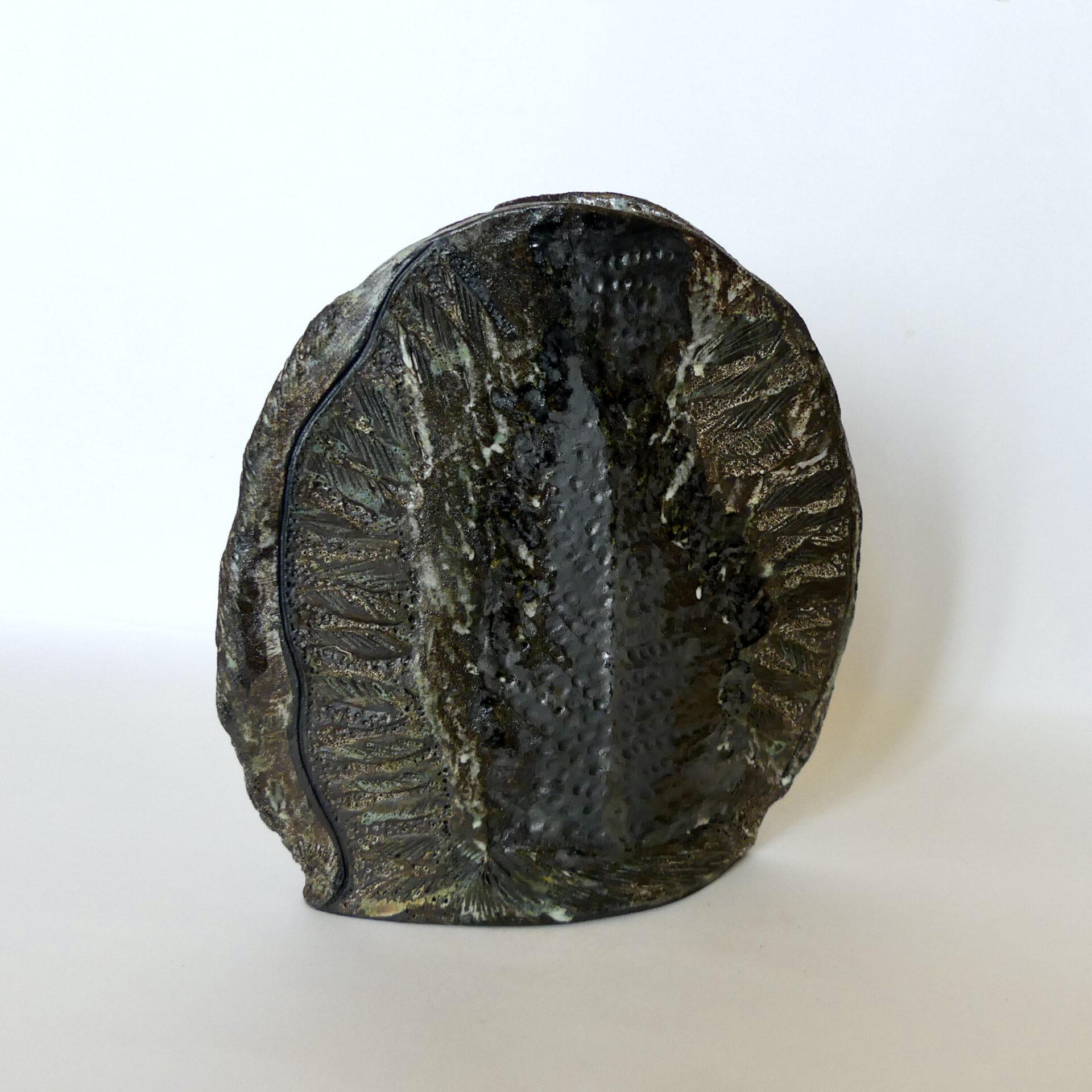 """Céramique vase paysage """"Carbone 19"""""""