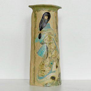 Vase paysage « Courtisane de dos »