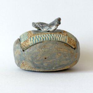 Boîte ronde singulière Opale Lussatite