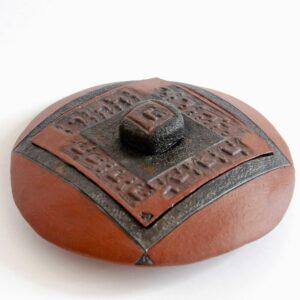 """Boîte disque impression sceau cylindre """"Les potières"""""""