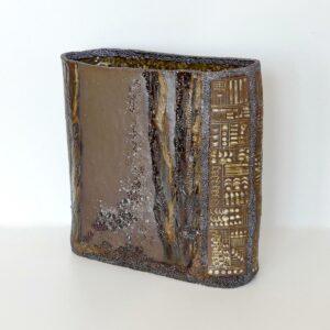 Céramique écriture ancienne Vase ovale